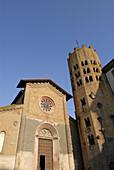 Orvieto Umbria Italy Church of Sant´ Andrea on Piazza della Repubblica 12th C church of Sant´ Andrea on Piazza della Repubblica and the 12 sided campanile