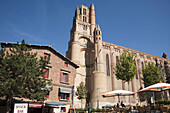 France,  Midi Pyrenees,  Tarn,  Albi Sainte Cécile cathedral,  gothic style I Characterized by a strong contrast between its austere,  defensive exterior and its sumptuous interior decoration