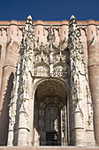 France,  Midi Pyrenees,  Tarn,  Albi Sainte Cécile cathedral,  gothic style,  main entry Characterized by a strong contrast between its austere,  defensive exterior and its sumptuous interior decoration