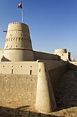 historic adobe fortification Al Khandaq Fort or Castle,  Buraimi oasis,  Al Dhahirah region,  Sultanate of Oman,  Arabia,  Middle East