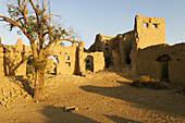 historic adobe ruins of the old town of Buraimi,  Al Dhahirah region,  Sultanate of Oman,  Arabia,  Middle East