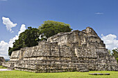 Maya ruin A6 at Caracol Archaeological Reserve in Belize