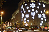 Christmas lights at Plaça Catalunya,  Barcelona. Catalonia,  Spain