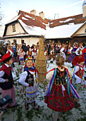 Poland,  Krakow,  Osadzanie Chochola,  traditional event at November,  'Rydlowka' Museum