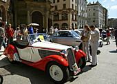 Poland Krakow,  antique cars show at Main Market Square