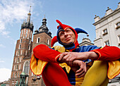 Joker at Main Market Square,  Krakow Poland