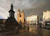 Poland Krakow Monument of great Polish poet Adam Mickiewicz