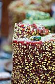 Turkish sweets, close-up, Egyptian Bazaar, Istanbul, Turkey