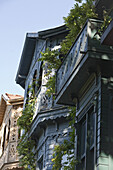 traditional timber Ottoman houses in Kuzguncuk district, Istanbul, Turkey