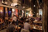 street cafes, restaurants, nightlife Beyoglu, Istanbul, Turkey