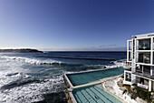 Surf at Bondi Beach, Icebergs Club, Sydney, New South Wales, Australia