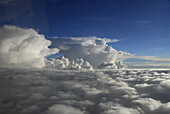 Aerial view of a monsoon cloud above northern India, India, Asia
