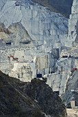 Marble quarry near Carrara, Tuscany, Italy, Europe