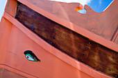 A traditional fishing boat, a Luzzu with original paintwork, Marsaxlokk, Malta, Europe