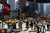 Street scene on Times Square, Broadway, Downtown Manhattan, New York City, New York, North America, USA