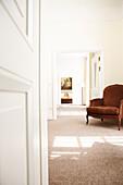 Armchair inside a suite, Hotel Buehlerhoehe, Buehl, Baden-Wuerttemberg, Germany