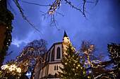 Christmas market, Bad Hindelang, Allgau, Swabia, Bavaria, Germany