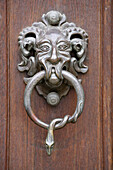 historic door opener at the Residenz, Bamberg, Upper Franconia, Bavaria, Germany