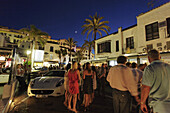 Party guests at harbour, Puerto Banus, Marbella, Andalusia, Spain
