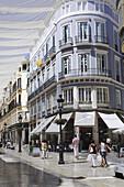 Pedestrian area Marques de Larios, Malaga, Andalusia, Spain