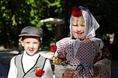Dressed up children, Fiestas de San Isidro Labrador, Parque del Buen Retiro, Madrid, Spain