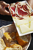 Plate with tapas, Madrid, Spain