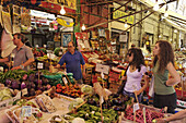 Fruit and vegetable seller, La Vucciria, Palermo, Sicily, Italy