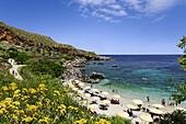 Bathing bay, Riserva naturale orientata dello Zingaro, San Vito lo Capo, Sicily, Italy