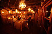 Dinner, Kadoro Lodge, Bushmans Kloof, Western Cape, South Africa