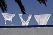 Clothline with laundry, Albufeira, Alagrve, Portugal