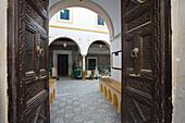 Inner Courtyard in the Medina, Old Town, Tripoli, Libya, North Africa