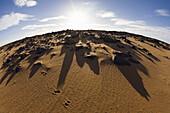 Licht und Schatten in der libyschen Wüste, Libyen, Sahara, Nordafrika