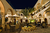 Cafe Marcus, Inner Courtyard in the Medina, Old Town, Tripoli, Libya, Africa
