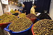 Olives on the Vegetable Bazar in Tripoli, Libya, Africa