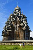 Transfiguration Church  1714), open-air museum of Russian wooden architecture of Kizhi, Lake Onega, Republic of Karelia, Russia
