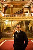 Fernando Garcia Macua, president of Athletic Club football club at Ibaigane Palace  currently the headquarters of the club), Bilbao, Vizcaya, Basque Country, Spain
