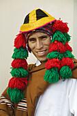 Man wearing typical costume of the Cusco region, Peru