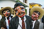 Men with traditional folk masks, Cusco, Peru