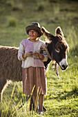 Girl, Tambomachay near Cusco, Peru