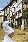 16th century Casa Ardixarra house, medieval fair, Segura, Goierri, Guipuzcoa, Basque Country, Spain