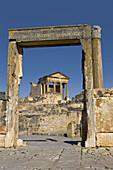 Capitol and temple of Mercury, Roman ruins of Dougga, Tunisia  December 2008)