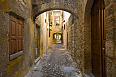 Small lane in the town, Rhodes. Dodecanese islands, Greece