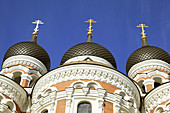 Onion Domes of Alexander Nevski Cathedral Tallinn, Estonia, Baltic States, Northeast Europe.