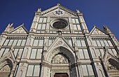 Franziskanerkirche Santa Croce an der Piazza Santa Croce in Firenze, Florenz, Toskana, Italien / Franciscan church of Santa Croce at the Piazza Santa Croce in Florence, Florence, Tuscany, Italy, Europe