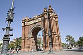 Arc de Triomf, Triumphal Arch, Barcelona, Catalonia, Spain