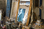 Antiques on a market in Essaouira, Morocco