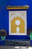 Oriental ornament at the Blue House in Marjorelle Garden, Marrakech, Morocco