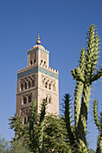 Minaret of Koutoubia Mosque, landmark of Marrakech, Morocco