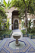 Patio of the Bahia Palace in Marrakech, Morocco
