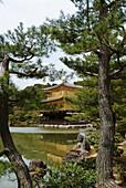 Kyoto, Japan,Kinkakuji  Golden Pavilion) is a Zen temple formally known as Rokuonji.
